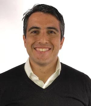Andres Moreira smiles to the camera