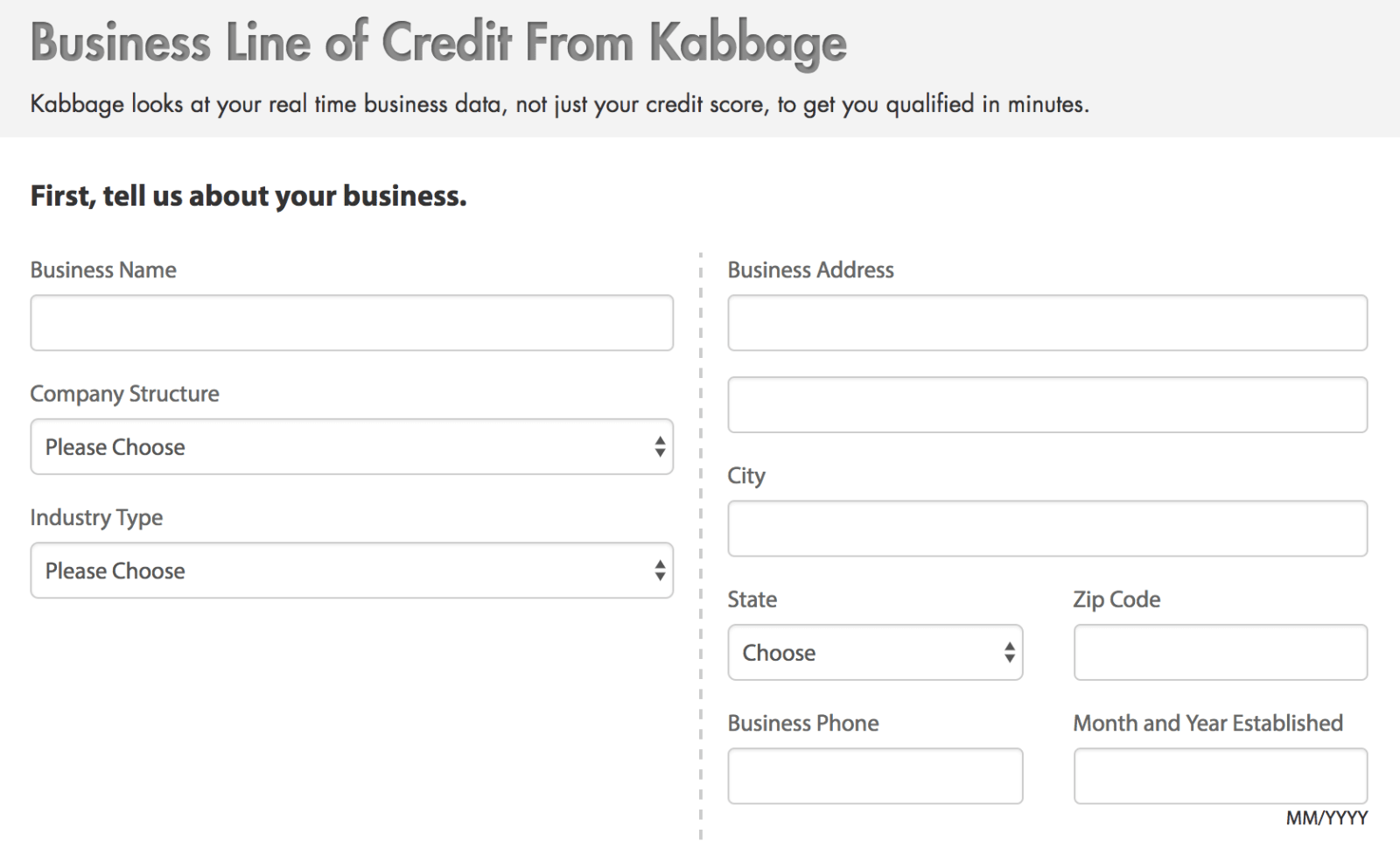 Kabbage Application Process