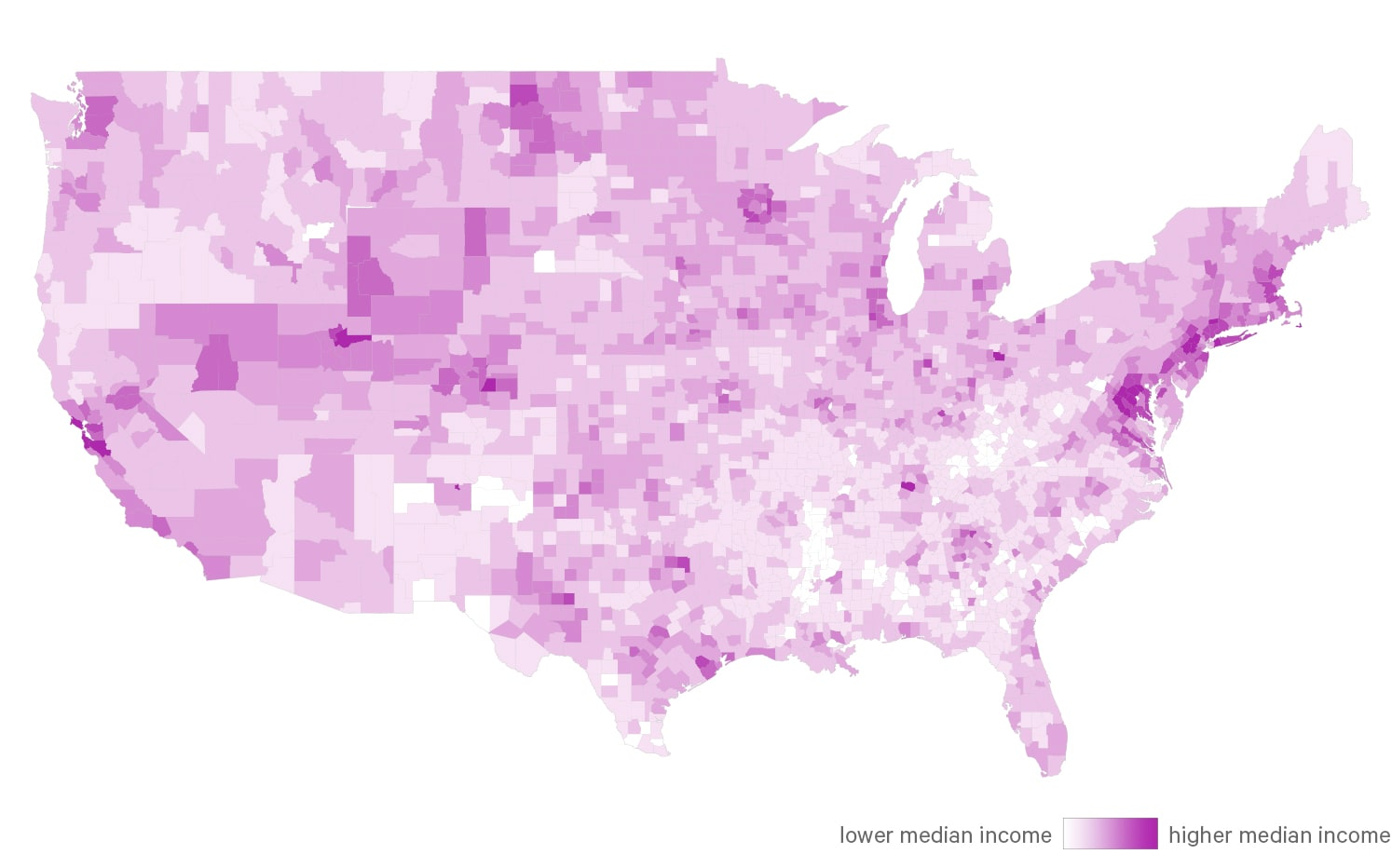 Who Has The Least Affordable Mortgages In The US ValuePenguin - Us counties by income