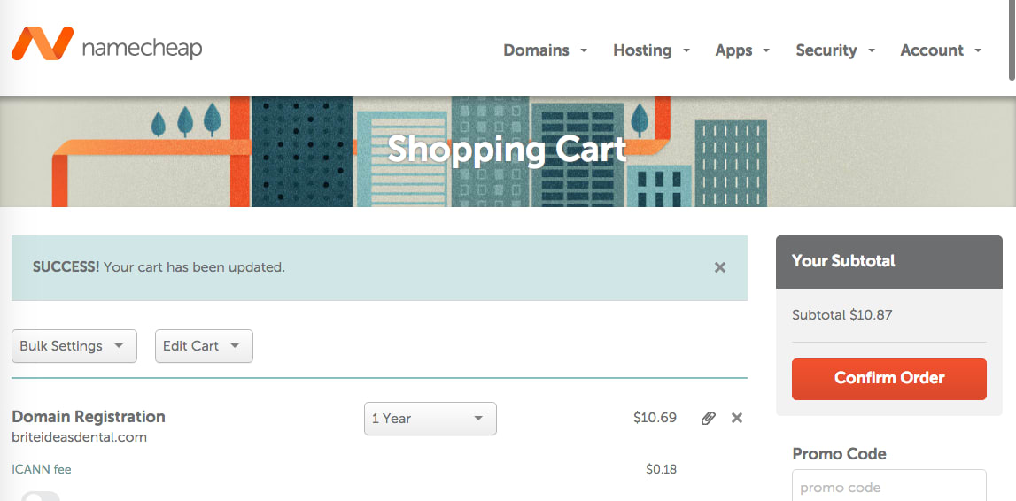 Namecheap domain shopping