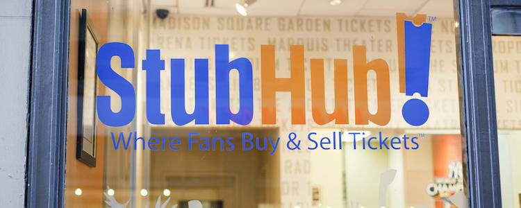 picture of storefront with Stubhub