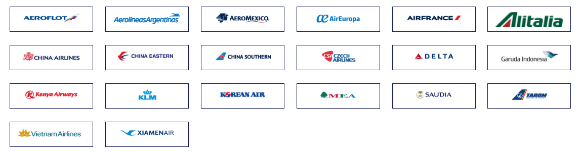 List of the SkyTeam carriers