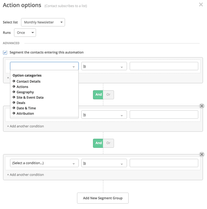 ActiveCampaign Review Creating Segments For Automation