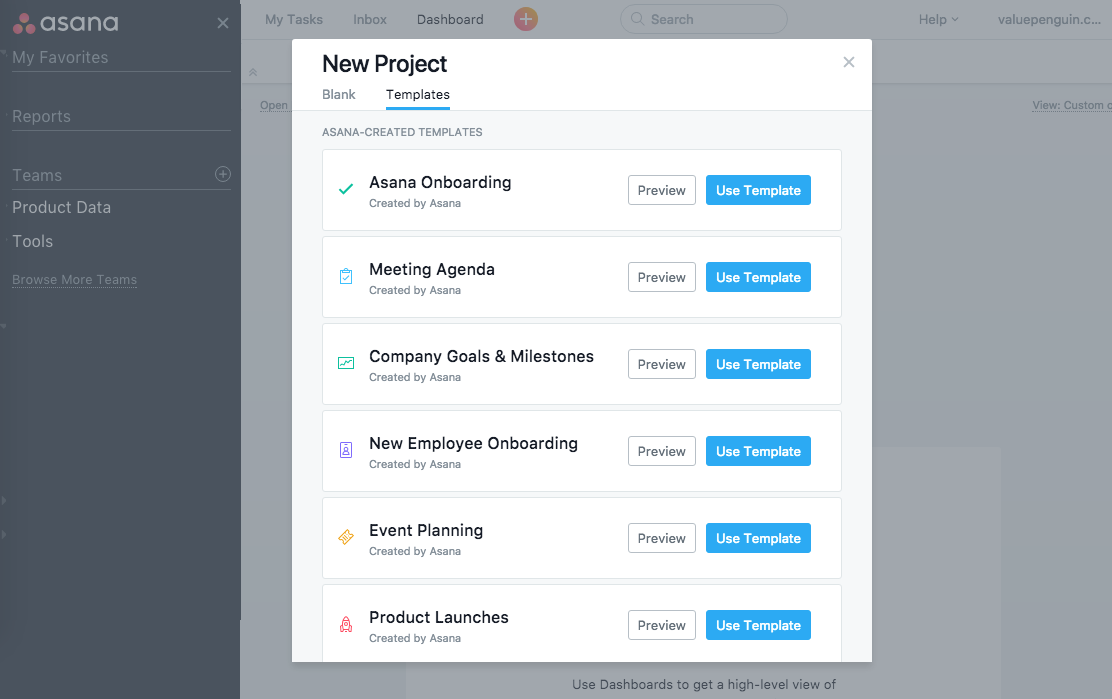 Asana review modern flexible project management software for Asana task template