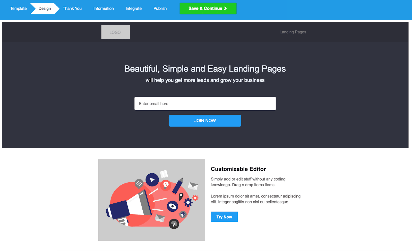 MailMunch Review Landing Page Builder