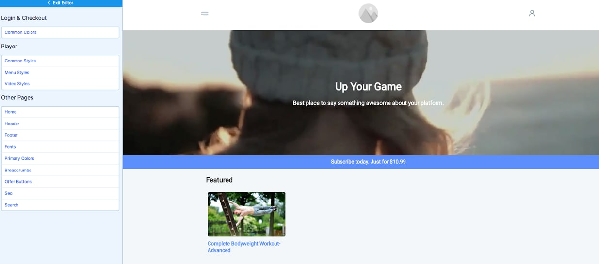 Uscreen Review Website Builder