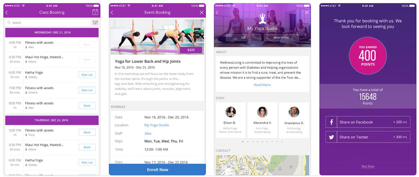 WellnessLiving Review Mobile Client App