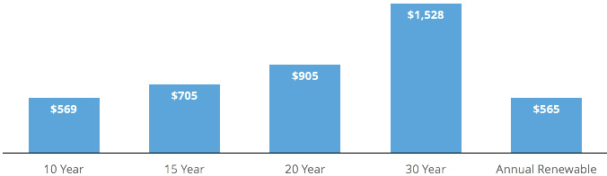 The Average Cost Of Life Insurance By Term: 10 Year, 15 Year, 20