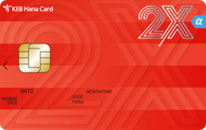 KEB 하나 2X 알파 카드 Image