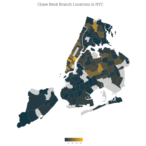 NYC Map Of Chase Bank Branches By Zip Code