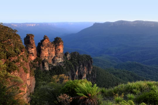 Three Sisters Rock formation in Blue Mountains National Park
