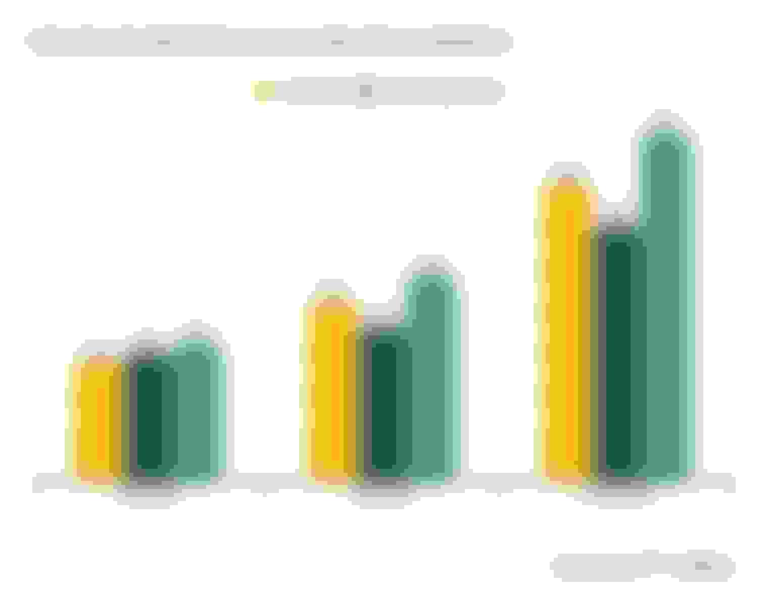 chart monthly rates Lemonade $21, Ladder $18, Fabric $24