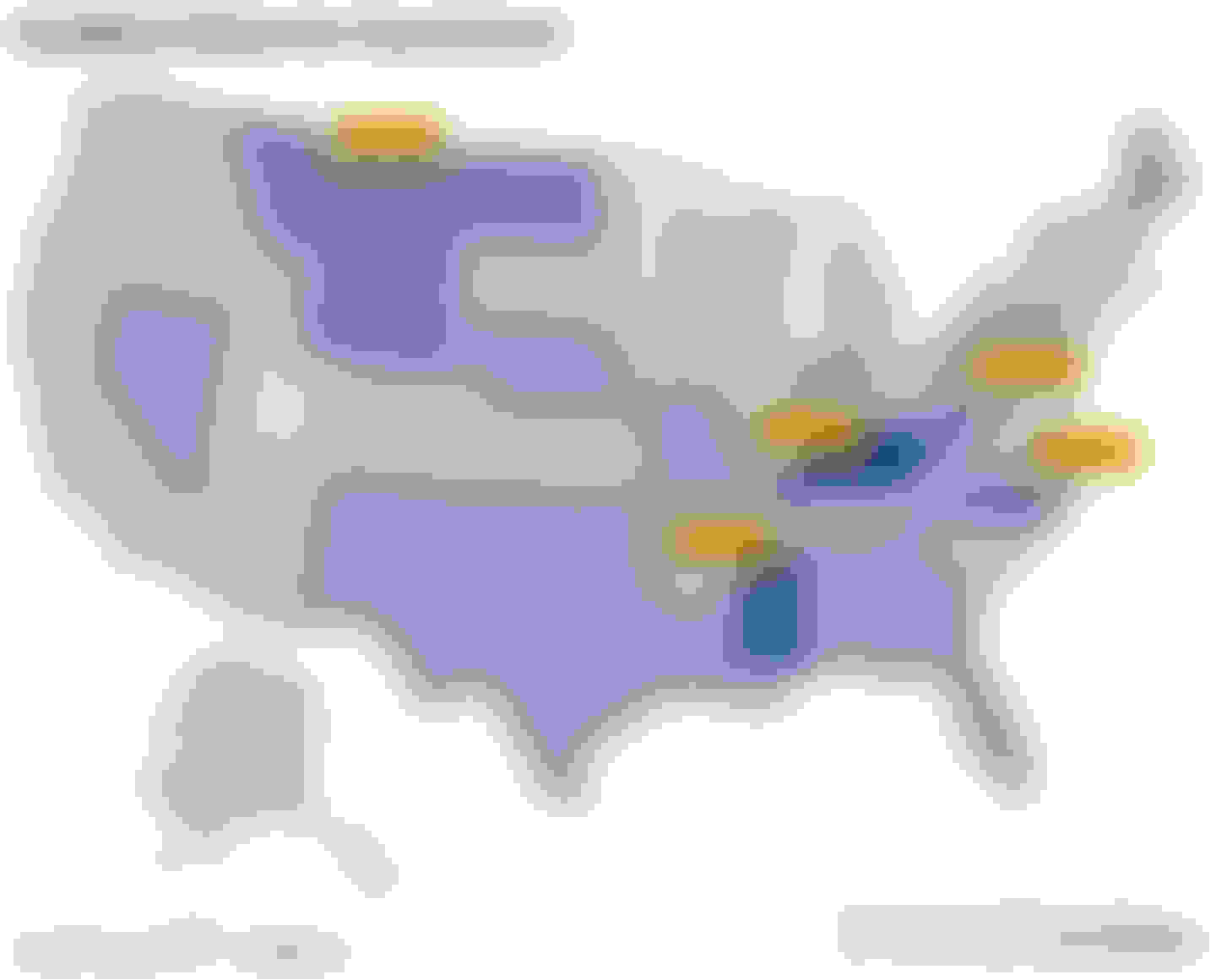 Heat map of the most dangerous states for teen drivers.