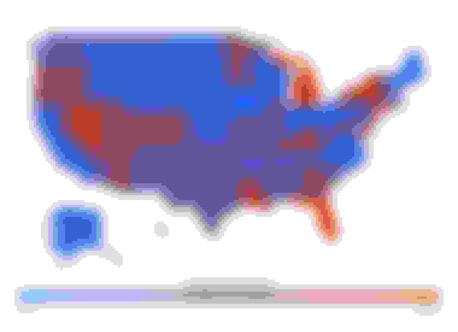 Heatmap of U.S. auto insurance rates by state