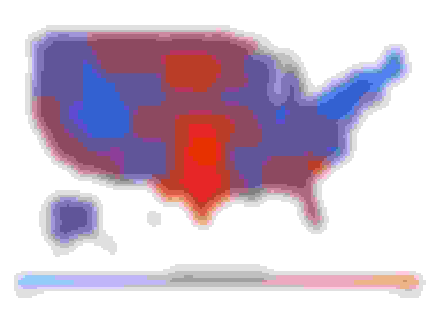 heatmap of the average annual cost of homeowner's insurance