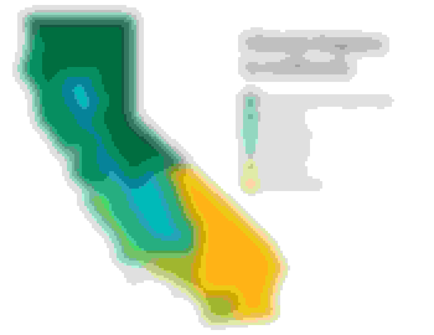 map of California's climate regions