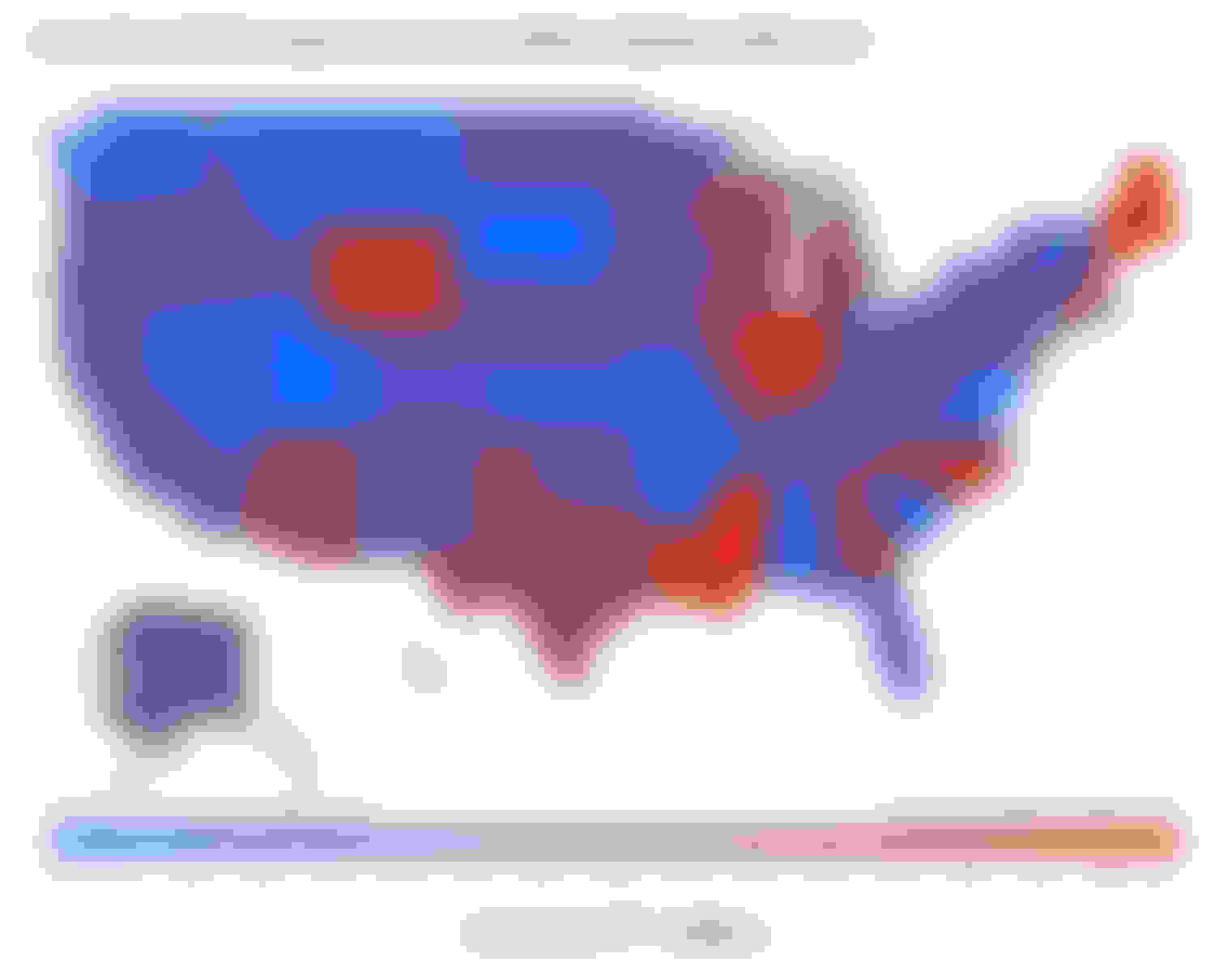 This image shows a map of the U.S. states by medical care-seeking behavior amid the coronavirus pandemic.