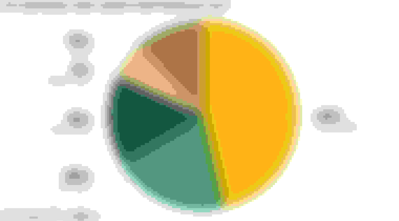 A pie graph illustrating how much people spend on their guns per year