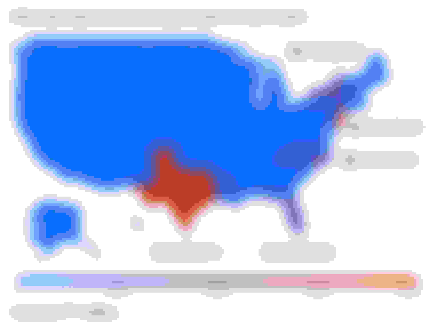 A heatmap showing where noncompliant claims originated