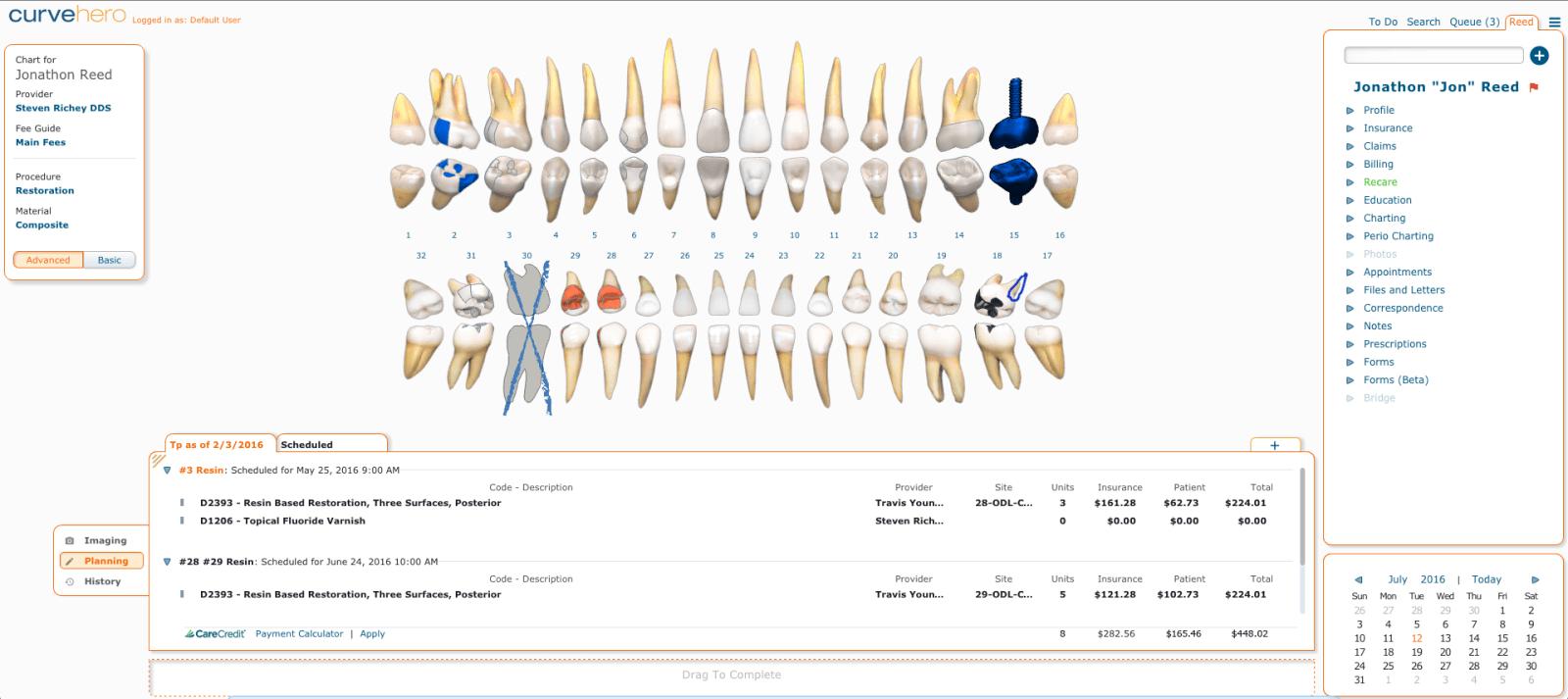 Curve Dental Treatment Plan