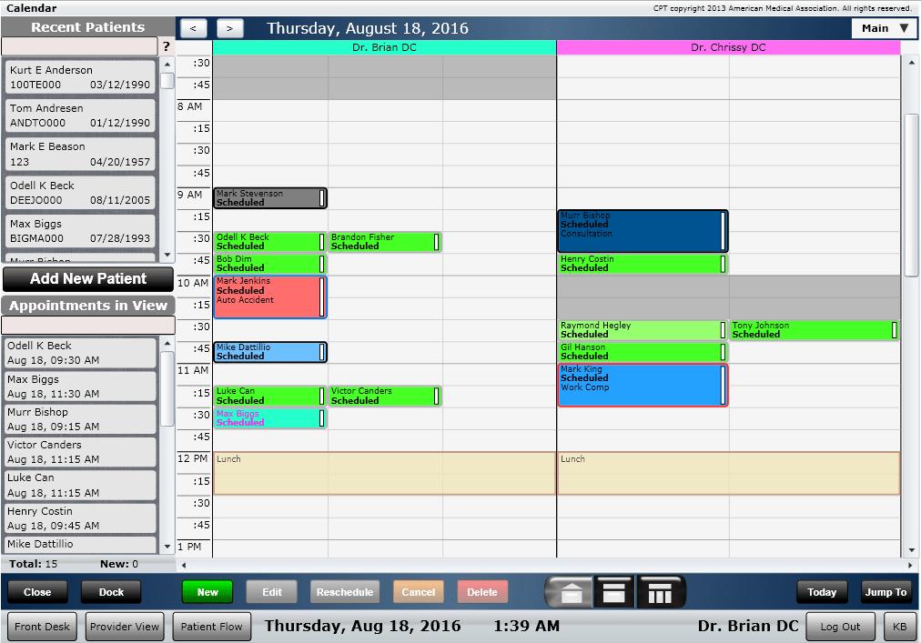 ChiroSpring Scheduler