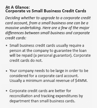 Corporate credit cards how they work and differences vs business if your company is nowhere close to this revenue cap it is not worthwhile to consider a corporate credit card reheart