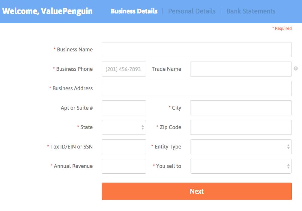 BlueVine Application Process