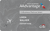 CitiBusiness® / AAdvantage® Platinum Select® World MasterCard® Image