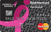 Pink Ribbon BankAmericard Cash Rewards™ Credit Card Image