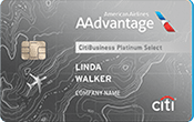 Image of CitiBusiness® / AAdvantage® Platinum Select® World Mastercard®