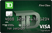 Image of TD First Class℠ Visa Signature® Credit Card