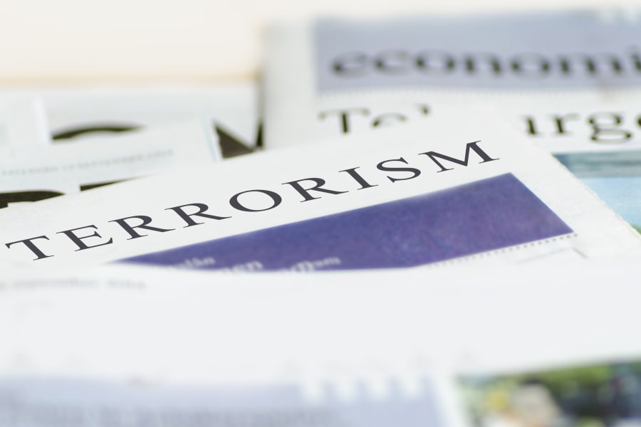 newspaper article about terrorism