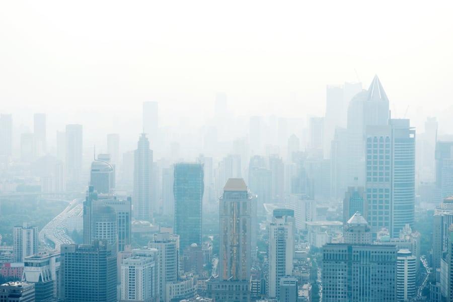 foggy singapore