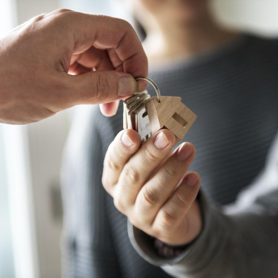 Family is handed new home's keys