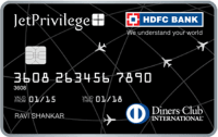 JetPrivilege HDFC Bank Diners Club Credit Card