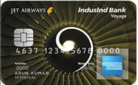 IndusInd Bank Jet Airways Voyage Credit Card - AMEX