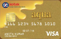 Kotak Bank  Aqua Gold Credit Card