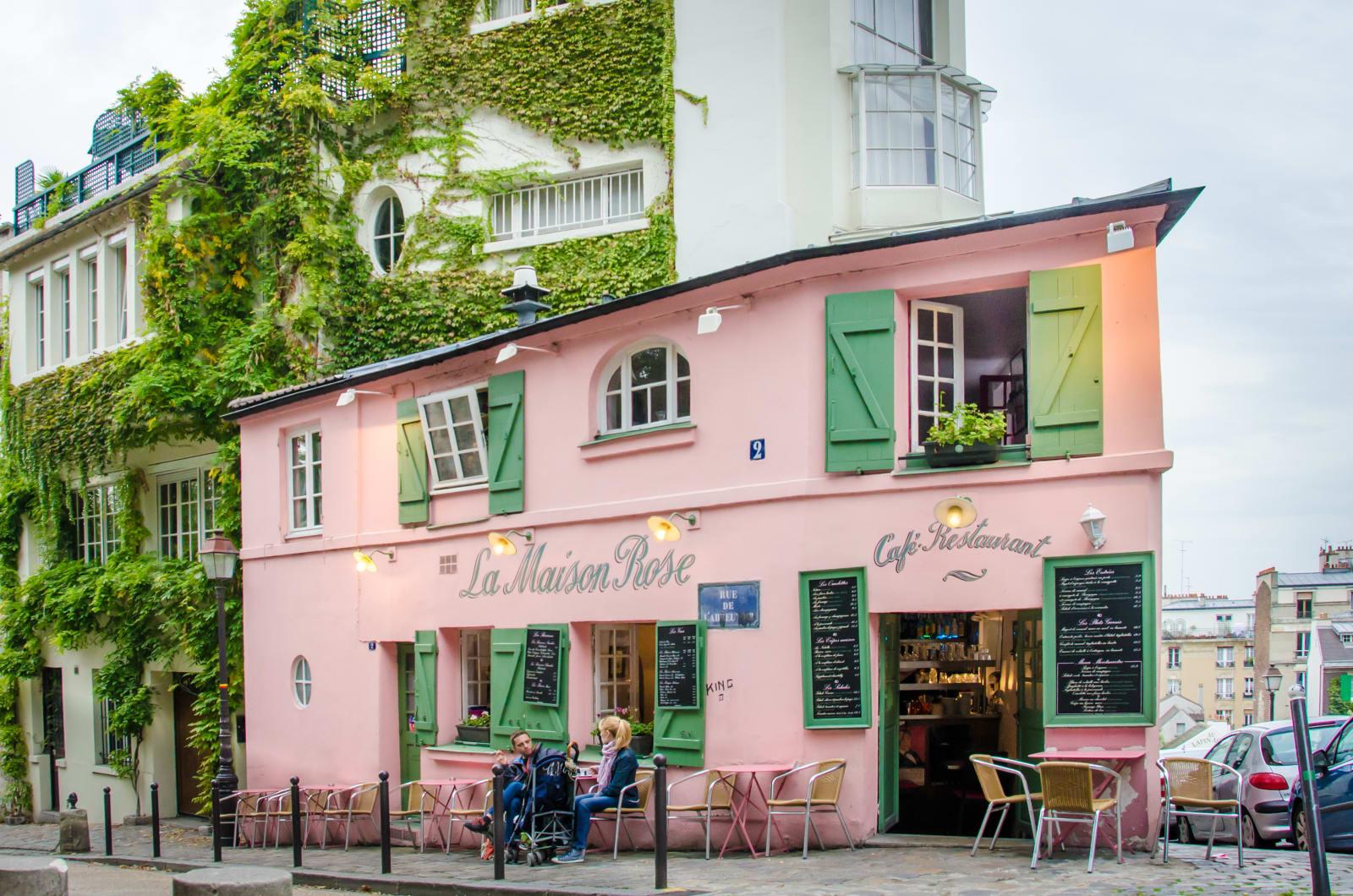 The restaurant La Maison Rose in Paris, France