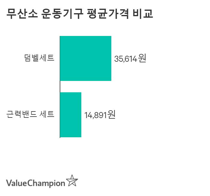 무산소 운동기구 평균가격 비교