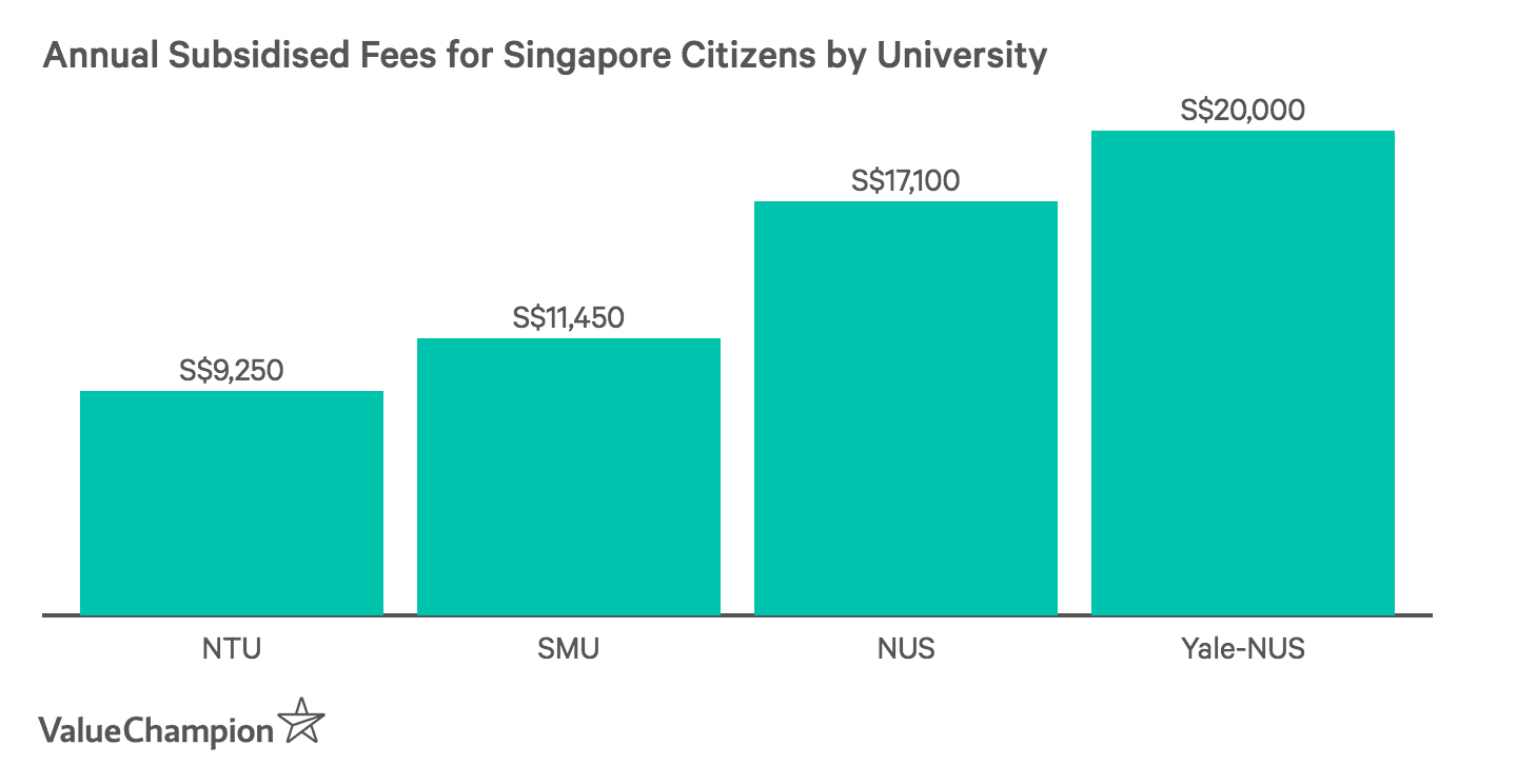 Annual Subsidised Fees for Singapore Citizens