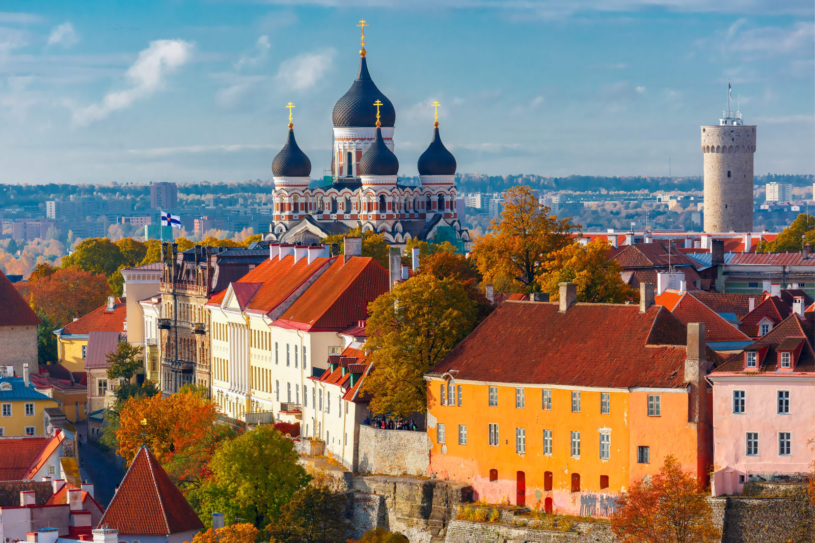 Scenic view of Tallinn, Estonia
