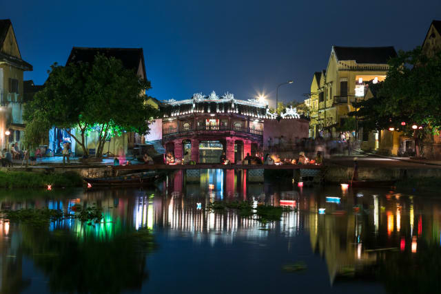 Hoi An's Old Town at night