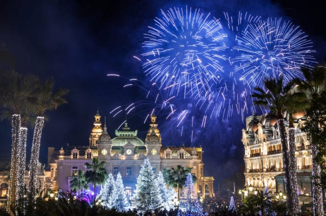 This image shows New Year's Eve celebrations in Monaco