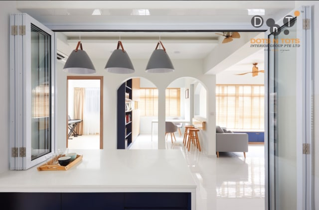 DotsnTots created archway entrances in a Bukit Batok flat
