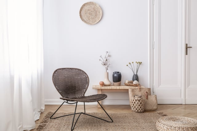 Wicker furniture can add a natural element to a room