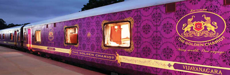 Golden Chariot train ride in India