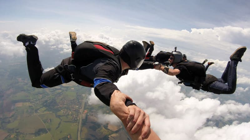 Despite the remarkably high cost, skydiving free-falls are often over in less than 60 seconds