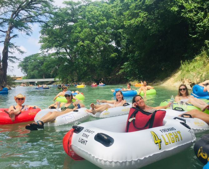 Austin TX River Tubing Float banner
