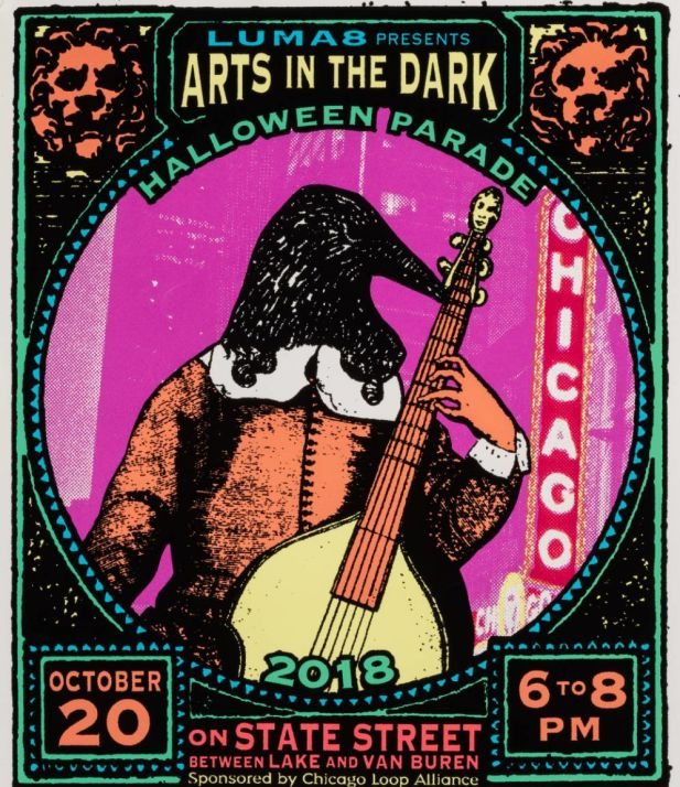 Arts in the Dark Halloween Parade banner