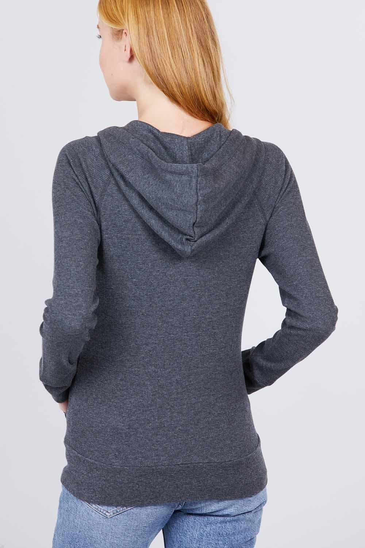 thumbnail 7 - Women's Basic Zip Up Hoodie Thermal Jacket Lightweight Pockets Drawstrings